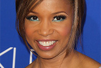 Elise-neal-teal-makeup-side